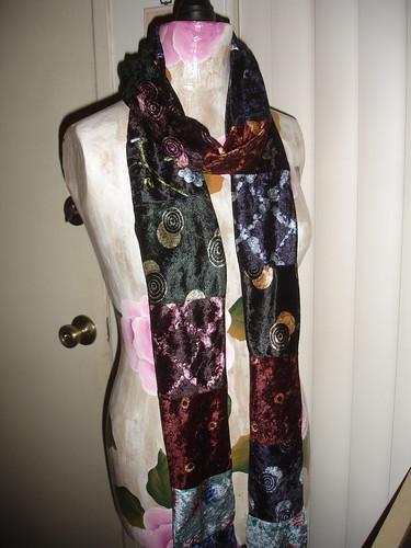Velour scrap scarf