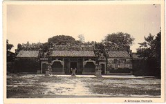 (China Postcard) Tags: china chinese vintage old photo postcard history temple buddha pogoda comfucions joss figure buddhism