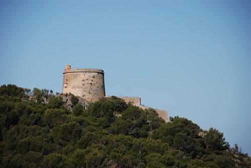 Torre Picada ovanför Port de Soller på Mallorca