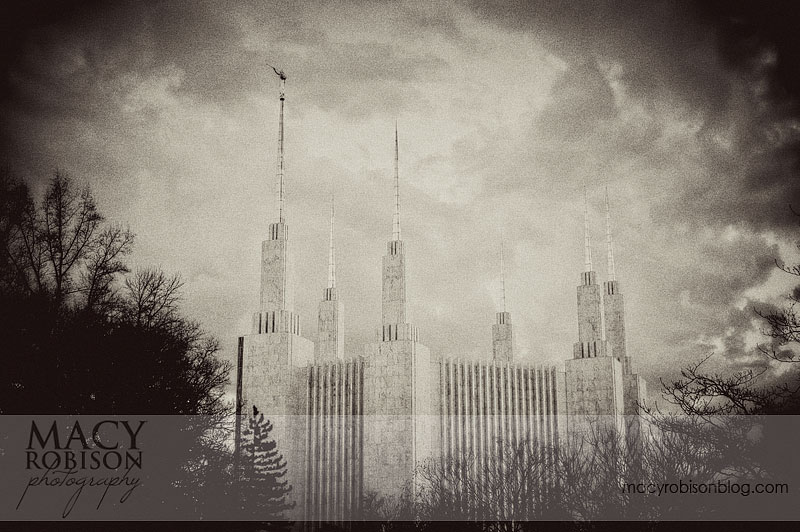 Washington DC Temple - Vintage