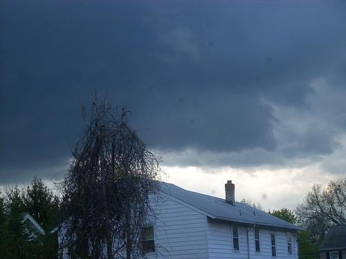 April stormy sky