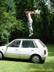 stompingontheroof (footfreak101) Tags: girls cars feet fetish walking high jumping women top ba