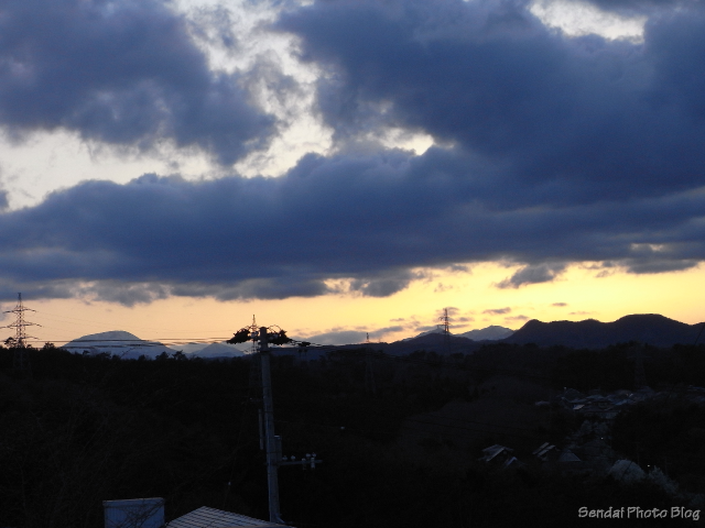 Sunset Over The Miyagi Mountains
