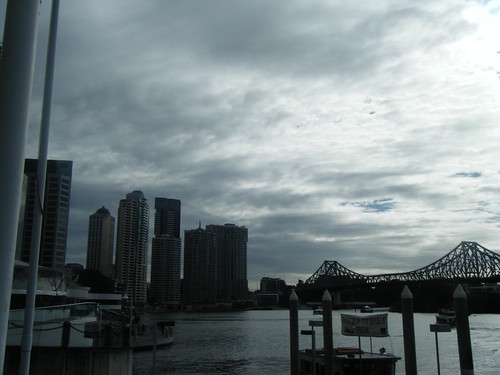 View from my breakfast spot on the river, Brisbane.