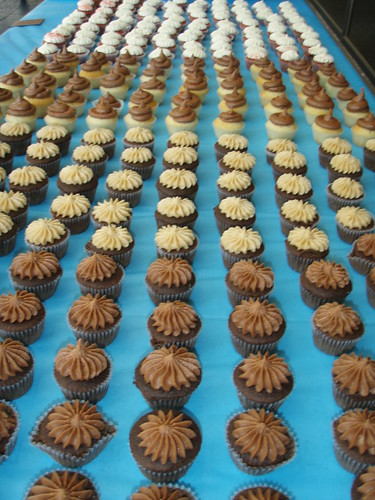 800 Mini Cupcakes accross the table!!