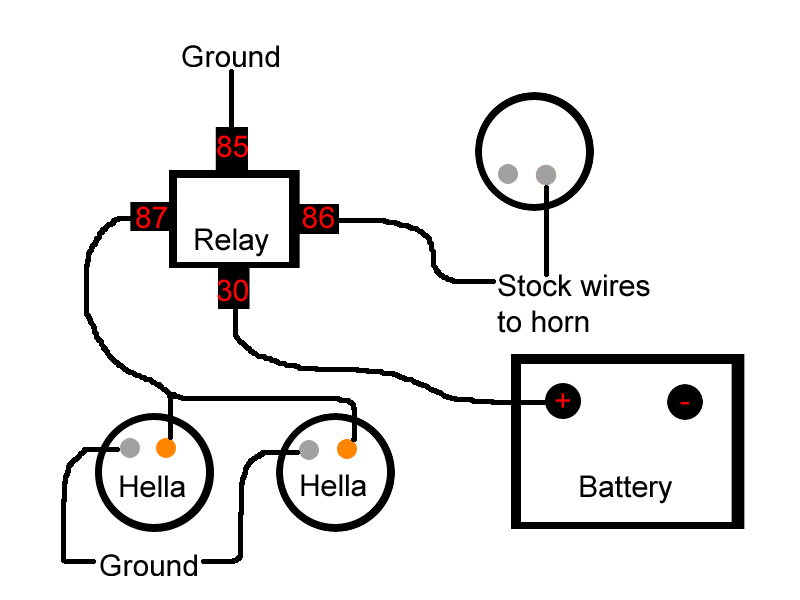 3496770441_fceba7165b_o hella horn installation 2nd set installed w pics!! hahaha motorcycle horn relay wiring diagram at gsmx.co