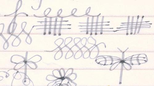 J. Herbin Gris Nuage Doodles