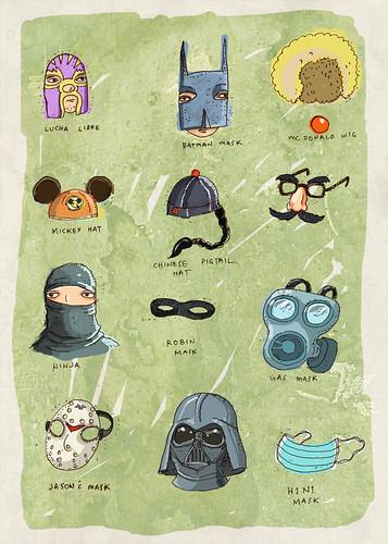 Masks and Hats , Swine flu, darth vader, mc donalds
