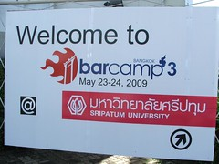 Barcampbkk3 sign board