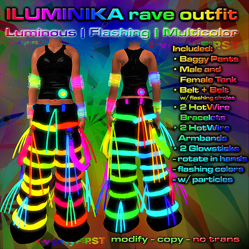 ILUMINIKA Rave Baggy Outfit