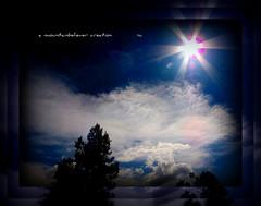 Sunburst! (mountainbeliever) Tags: sky sun nature beauty clouds stars colorful day skies bright sunburst daytime picnik sunflare sunstar skytheme perfectsunsetssunrisesandskys coloradoskies sunorbs