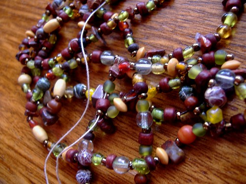 threaded beads