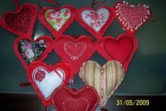 Coraes para vitrine namorados (mariaelicepatch) Tags: coraes