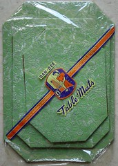 "Vintage Dan-Dee ""Table Mats"" in Package (CollectoratorOne) Tags: green kitchen vintage 1940s embossed trivet hotpad dandee originalpackage"