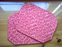 Quilted Placemats (Mary Eliza Jade) Tags: hand made quilted placemats