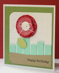 Happy Red Flower Birthday Card (Ashley.M) Tags: birthday handmade card heroarts lp128 s5129 k5175 backgroundstamping k2069