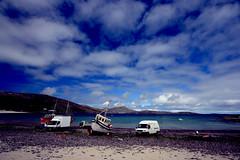 fishing boats and fishing vans (paddimir) Tags: west boats bay scotland vans westernisles outerhebrides vatersay barra2009