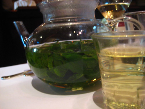 mint tea at chez panisse cafe.