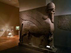 winged bull and winged lion (lamassu) (profzucker) Tags: metropolitanmuseum mesopotamia lamassu wingedbull alabaster wingedlion nimrud neoassyrian ashurnasirpalii