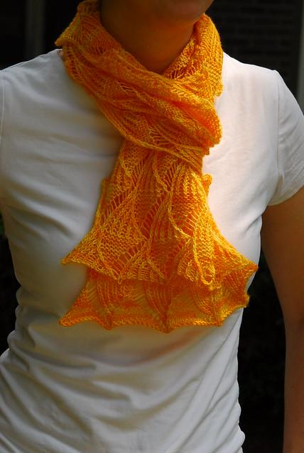 针织围巾: 晚上的红色天空  - maomao - 我随心动