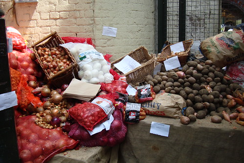 Borough Market, London: Another vegetable display
