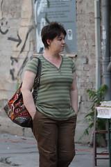 (Catalin Pruteanu) Tags: street woman june canon arthur strada walk verona romania delivery bucharest bucuresti iunie canon70300 pictor arthurverona canon400d streetdelivery