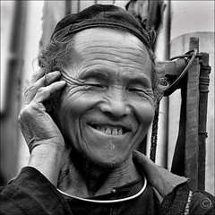 Life is good (NaPix -- (Time out)) Tags: portrait bw man black 6x6 face canon square asia spirit father vietnam explore soul g6 emotions sapa hmong 500x500 explored explorefrontpage napix