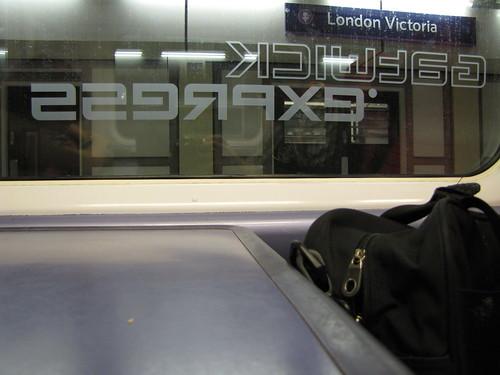 Aboard the Gatwick Express