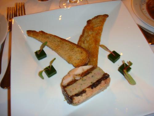Foie gras de pato y conejo