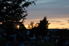 Sunset (GirlOnAMission) Tags: sunset summer robin 4thofjuly 2009 psu