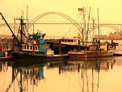 "Newport Bay, Oregon (luckyonthecliff, Kathy ""Cody"" Robinson) Tags: bridge nature water oregon boats inspire newportbay clck theunforgetablepictures theunforgettablepictures superamazingshots makeothershappy allbeautifulshotsandmanymore boatsshipsaroundtheworld"