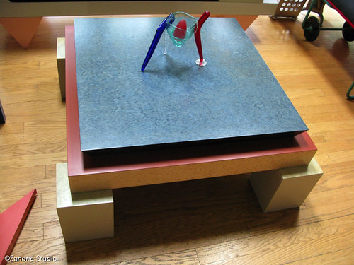"Sottsass' ""Holbid"" coffee table"