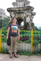 Cecilia before the Flora Fountain