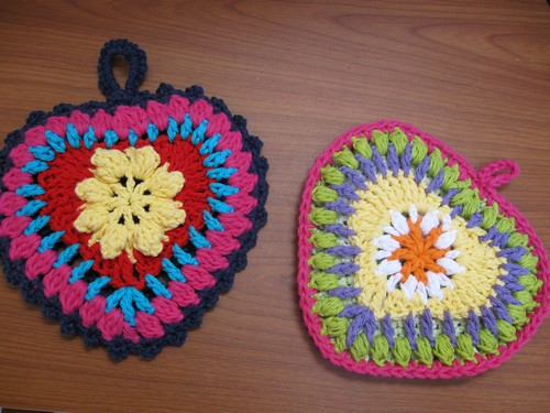 Heart Potholders
