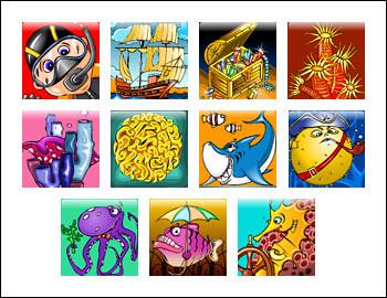free Ocean Fantasy slot game symbols