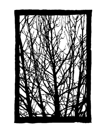 Design for a stencil (Rowan tree) 1