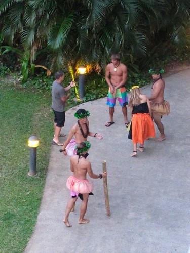 dancers warming up