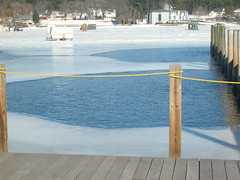 winnipesaukee (OCD is the life 4 me) Tags: winter snow ice frozen dock newhampshire meredith recreation icehouse winnipesaukee icefishing frozenlake