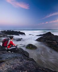 ojala se parara el tiempo (SanchezCastillejo) Tags: sea sky beach atardecer mar spain sony playa murcia seda playas alhama a700 castillejo percheles