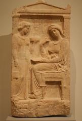 Marble Stele of Phainippe (griannan) Tags: 2009 funerary loh metmuseum greekandromangalleries opalartseekers4 WLA:org=metmuseum WLA:cat=1 WLA:team=opalartseekers4