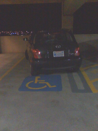 Stupid Parking Idiot - Daly City disabled spot CA 26058