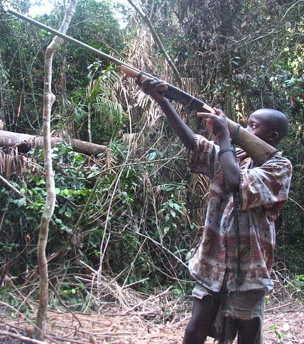 boy hunter with homemade 12 calibre