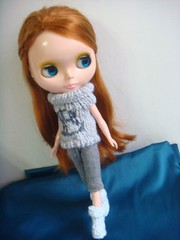 Blythe's sweater with B in front