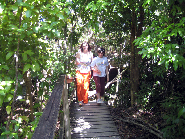 Lucaya National Park - mangrove swamp - girls time