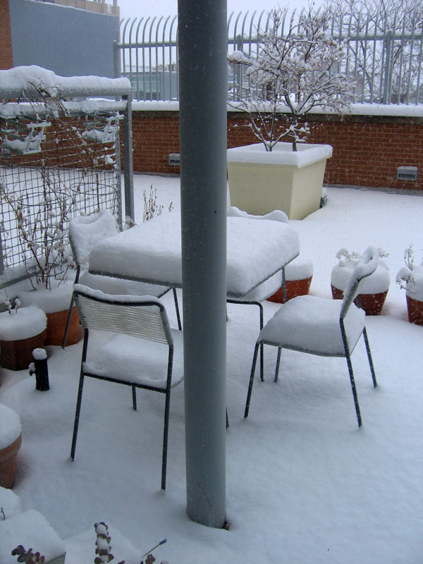 patio snow