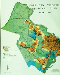 Northern Virginia regional plan, 1965 (via Prince William Conservation Alliance)