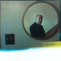 Jean-Paul 76 ans ( a stranger) (Benoit.P) Tags: portrait canada man color art 6x6 film analog square mood montral mtl quebec strangers stranger troisrivieres miroir mauricie portra yashica couleur homme negatif 635 carre 400nc troisrivires inconnu benoitp benoitpaille
