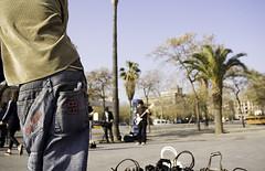 Placa de Pau Vila (andreikino) Tags: barcelona pants trousers baggy gotic barri