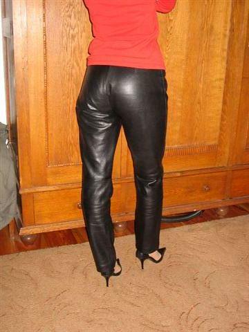 Shall afford Mature leather pants heels too seemed