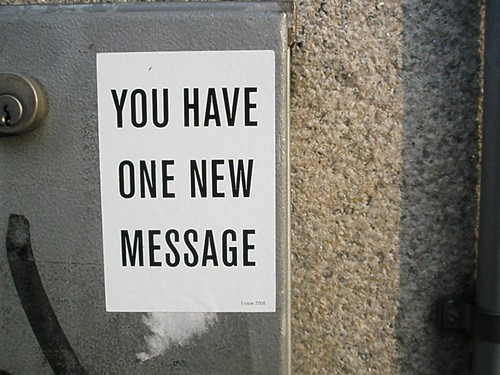 you have one new message.